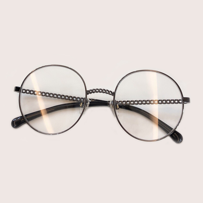2019 New man Woman Retro Large Round Glasses Transparent Metal eyeglass frame Black Silver Gold spectacles