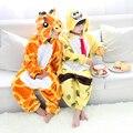 Onesie animais Pijama Girafa Para Crianças Esponja Bebê Sleepsuit Pijamas Cosplay Trajes Crianças Romper Jumpsuit
