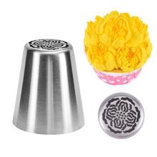 VOGVIGO сопла для торта, крема, кондитерских изделий в форме цветка, сделай сам, русская насадка из нержавеющей стали для обледенения, насадка для помадки, форма для украшения торта