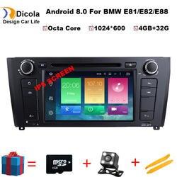 "7 ""ips Octa Core 4 GB + 32 GB 2 Din Android 8,0 dvd-плеер автомобиля для BMW 1 серии E88 E82 E81 I20 gps навигации аудио 4G Wi-Fi DAB + BT"