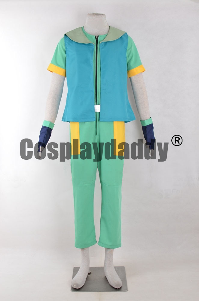 Pokemon Trainer A Friend In Deed Ritchie Uniform Outfit Cosplay Costume F006