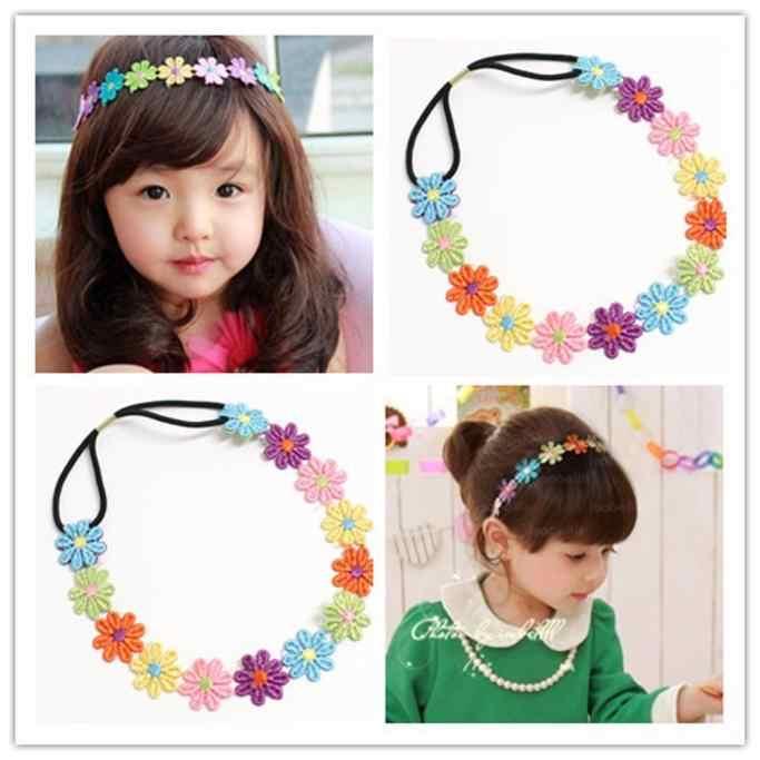New Lovely Baby Menina Crianças Bordados Flores Headband Acessórios Para o Cabelo Headwear acessórios de Cabelo para Crianças Recém-nascidas @ 40