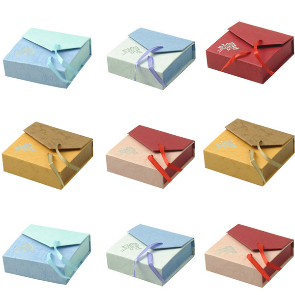 48pcs/lot Cardboard Bracelet Box Display Storage Box Case Jewelry Packing Bracelet Bangle gift boxes with Satin Ribbon