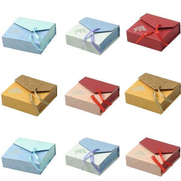 48pcs/lot Cardboard Bracelet Box Display Storage Box Case Jewelry Packing Bracelet Bangle gift boxes with Satin Ribbon