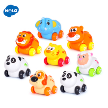 (Set of 3) Free Shipping Huile Toys Cheap Baby Toys Cartoon Animals Friction Push and Go Toy Cars Play Set for Baby 18 Month+ set of 5 free shipping baby toys push and go friction powered animal cars fun toys stocking stuffer toys for children 366x