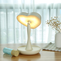 Gustala LED Makeup Vanity Light Heart Shape with 1X / 3X Magnifying Mirror