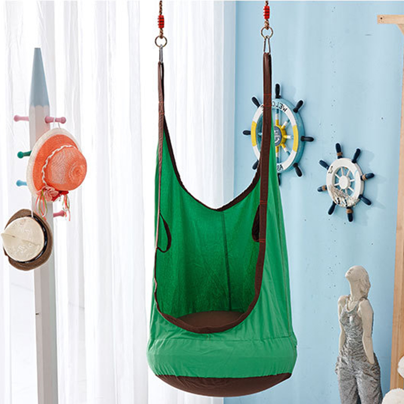 Children Hammock Inflatable Cushion Portable Health Cotton Garden Furniture Swing Chair Indoor Outdoor Green Child Swing Seat
