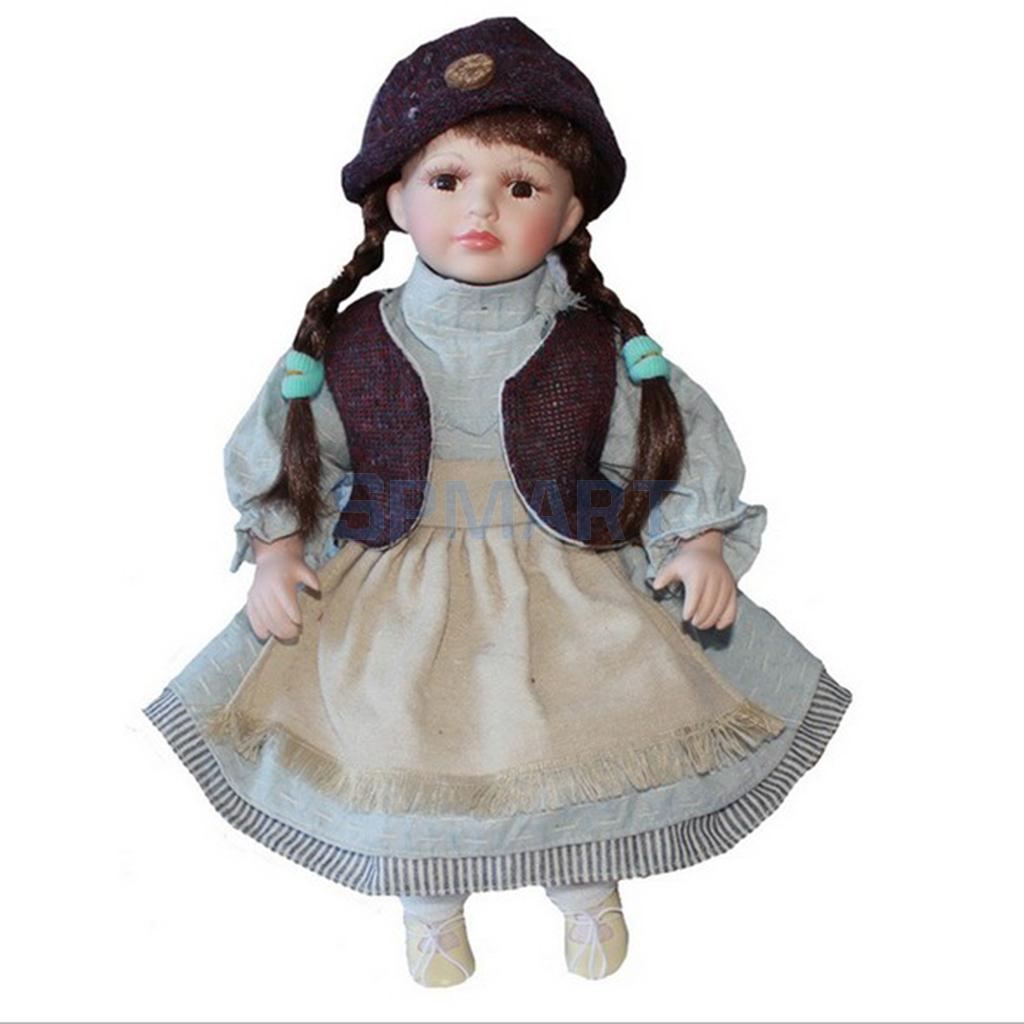16inch Elegant Victorian Porcelain Doll with Stand Girl ...