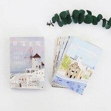28 листов/набор закат в европейских городах мини-открытка/поздравительная открытка/открытка для сообщений/Детская Подарочная открытка Kawaii канцелярские принадлежности