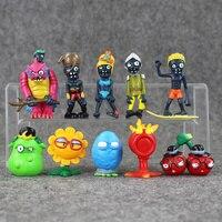 8th generaton 10Pcs/lot Plants VS Zombies PVZ Collection Figure boss zombies snow figure Toy Doll