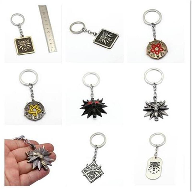 Mixed The Witcher 3 Keychain Wolf Head Metal Pendant Medallion Wild Key Chain Ring The Wild Hunt Figure Men Jewelry Chaveiro HC goorin bros men s wild beaver