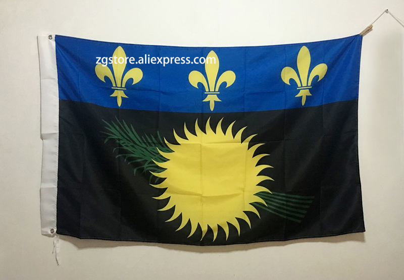 France Unofficial flag of Guadeloupe (local) Flag 3X5FT 150X90CM Banner brass metal holes