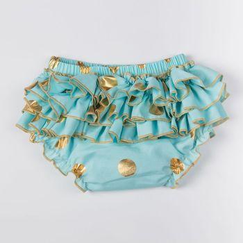 Novedad en bañador infantil de marca popular para la playa, bañadores, bragas, bonitos mini pantalones cortos triangulares de baño para niñas