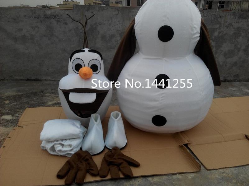 Nieuw Olaf Mascotte Kostuum olaf Kostuum Gratis verzending Olaf - Carnavalskostuums
