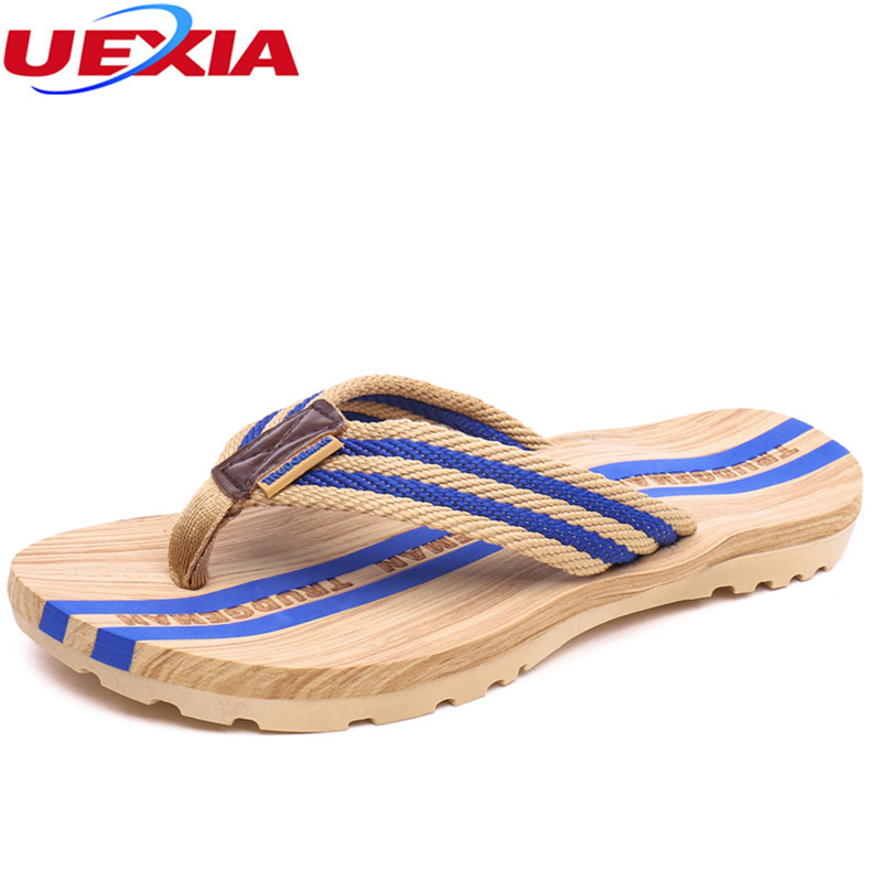 UEXIA Brand Hot Selling Slippers Summer Cool Men Flats Flip Flops Beach Casual Male Outdoor Slippers Fashion Shoes Flat Non-Slip leopard cool men beach slippers summer 2017 new fashion soft non slip flip flops shoes outdoor flat casual slippers plus size