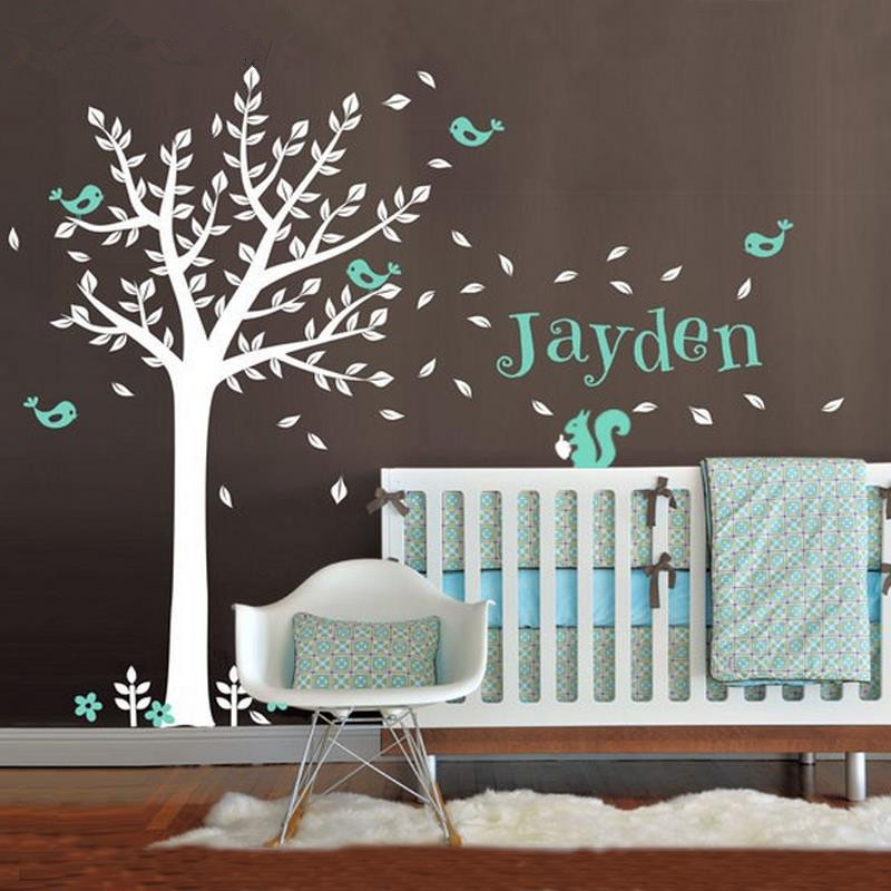 Personalized Name Vinyl Wall Decals One Color Treecute Squirrel