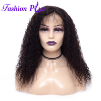 Full Lace Human Hair Wigs With Baby Hair Wigs For Black Women Brazilian Virgin hair Curly Weave 12 28 inch Virgin Remy Hair