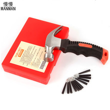 Vacuum Tire Mushrooms Nails Car Tyre Repair Tools Set Kit with Claw Hammer Puncture Plug for Fast Tool