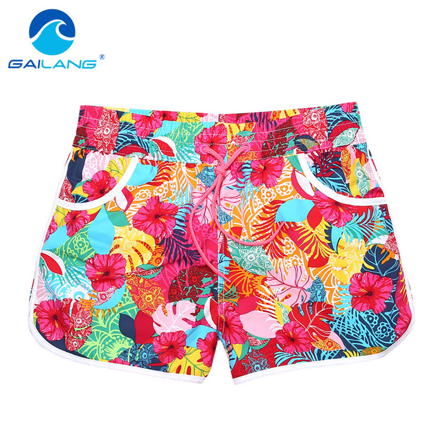 Gailang Brand Women Casual Shorts Board Trunks Shorts woman new Boxer Shorts Swimwear Swimsuits Boardshorts Big Size XXXL