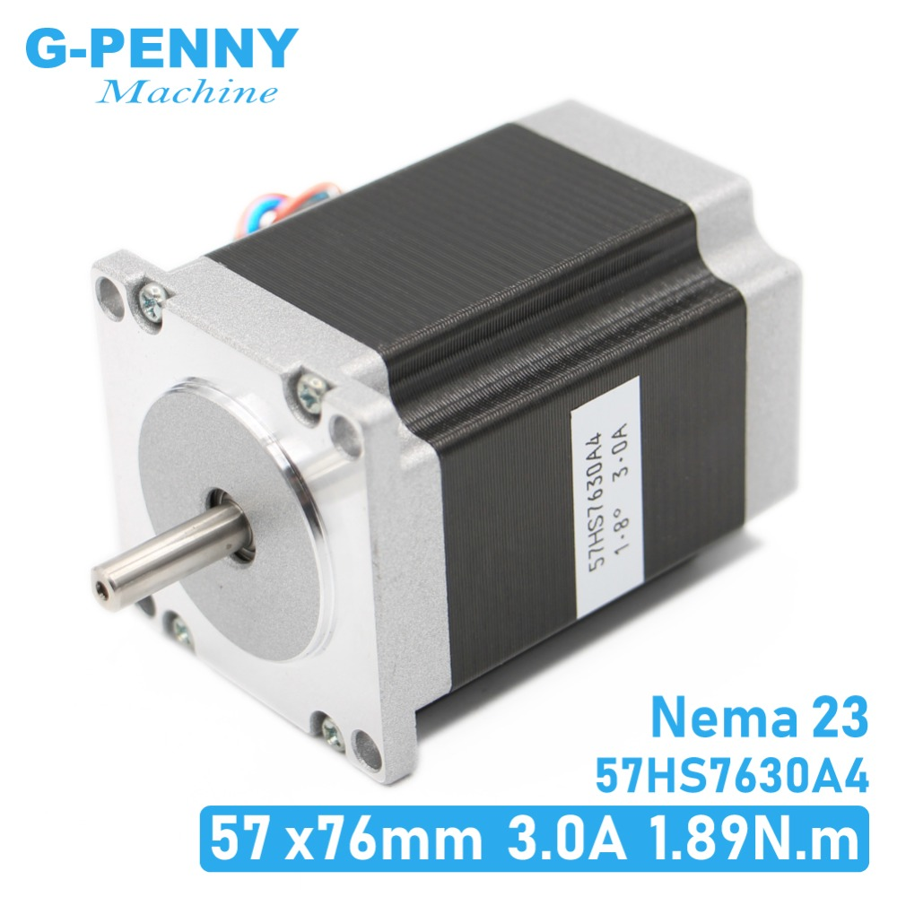 NEMA23 cnc stepper motor 57 x76mm1.89N.m 4-Lead 1.8deg / Nema 23 motor 3A  270Oz-in For CNC machine and 3D printer! high qualityNEMA23 cnc stepper motor 57 x76mm1.89N.m 4-Lead 1.8deg / Nema 23 motor 3A  270Oz-in For CNC machine and 3D printer! high quality