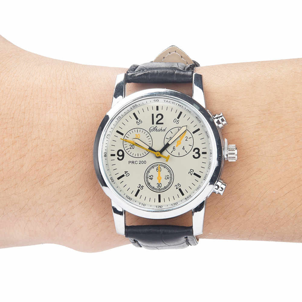 Dropship כחול-ray זכוכית ניטראלי קוורץ שעונים גברים של 5 צבעים מדמה עור רצועת שעון Relogio Masculino # LR4