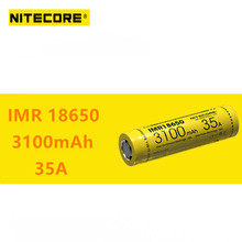 1pcs original Nitecore IMR18650 IMR 18650 3100mAh 35A 3.7v batteries High Drain Rechargeable Battery Ideal for Vaping Devices