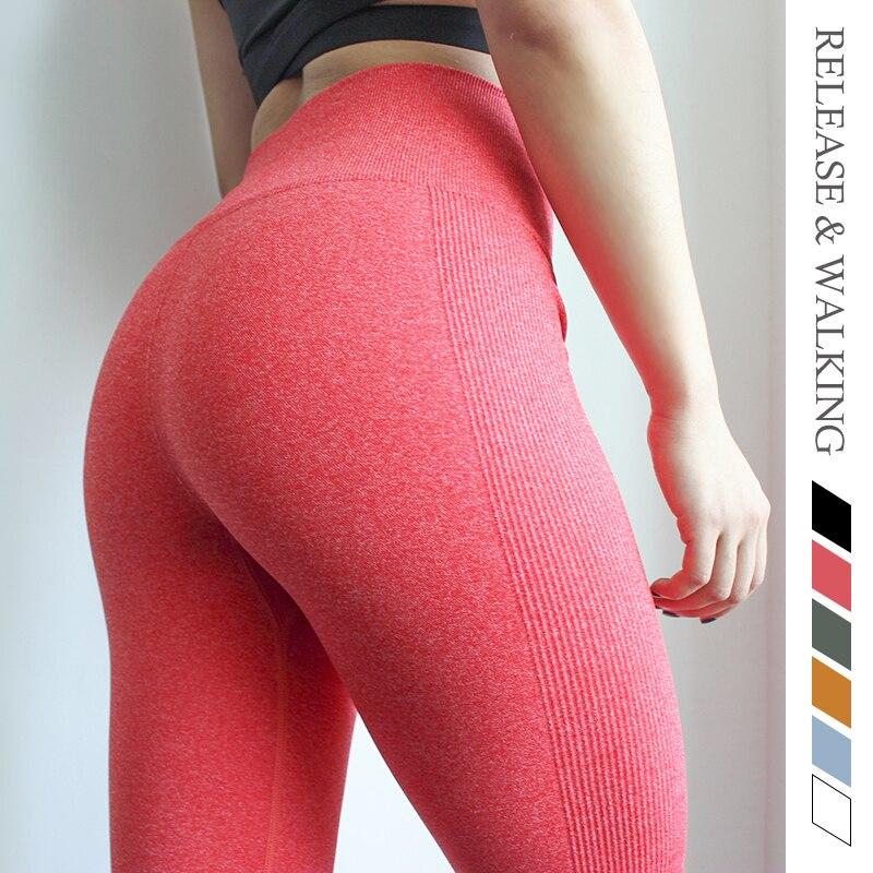 ★  R & W Tight Hips Up Упругие Спорт на открытом воздухе Женщины Леггинсы Базовый стиль Бег Йога Фитнес ★