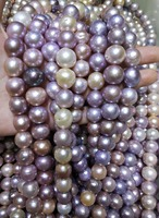 Genuine AA+ Natural Pearl 12 16mm Colorful freshwater pearl HUGE loose beads DIY gift one strands Hole Approx 1mm