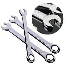 11mm-19mm Chrome Vanadium Steel Reversible Wrench  Socket Spanner Nut Tool Polished Chrome Hand Tools 81ccp series chrome polished crystal
