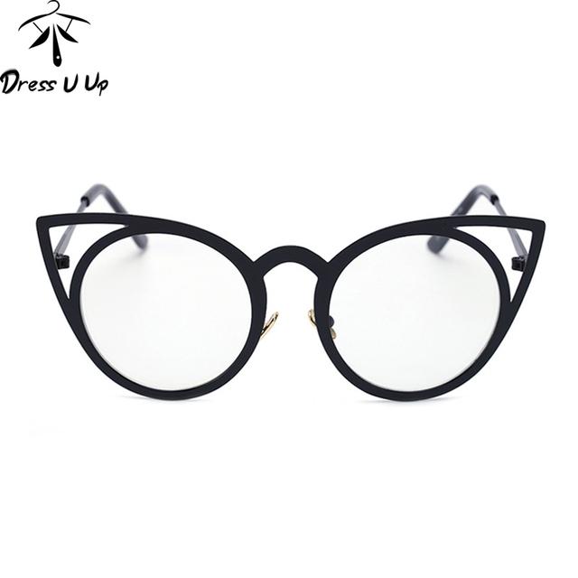 DRESSUUP Mix Rose Gold Glasses Frame Women Eyeglasses Optical Ladies Clear Lens Fashion Frames Spectacles Oculos De Grau