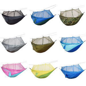 Image 1 - 1 2 Person Outdoor Mosquito Net Parachute Hammock Camping Hanging Sleeping Bed Swing Large Stocking