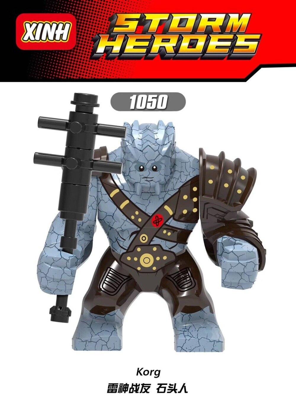 20PCS XH1050 Building Blocks Avengers 4 End Game Space Korg Iron Monger Hulk Action Figures For