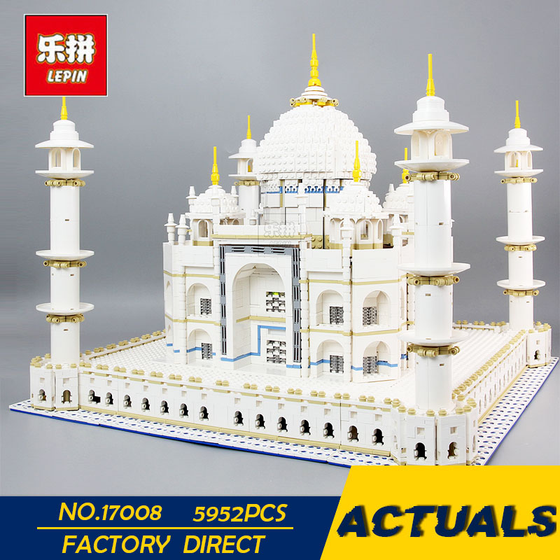 LEPIN 17008 The taj mahal Model Educational Building Kits Blocks Bricks Compatible With 10189 Toy as Children Gift 5952pcs new lepin 16009 1151pcs queen anne s revenge pirates of the caribbean building blocks set compatible legoed with 4195 children