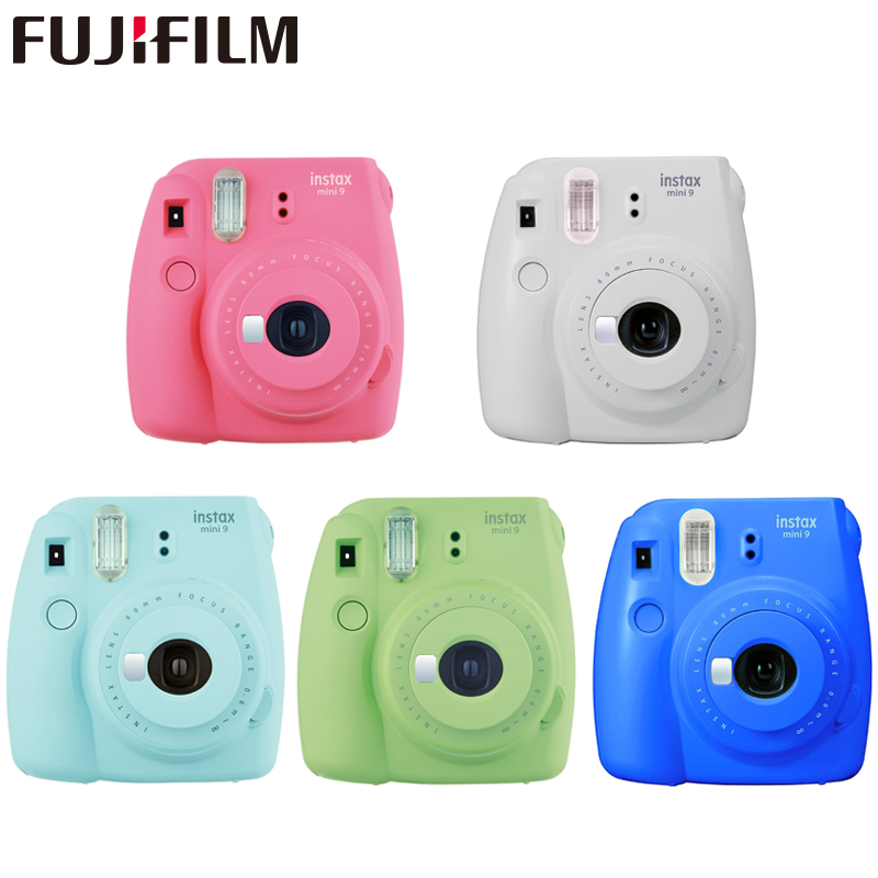 Fuji film Instax Mini 9 instantané fuji caméra Film Photo caméra Pop-up lentille Auto doseur Mini caméra avec sangle 5 couleurs cadeau mignon