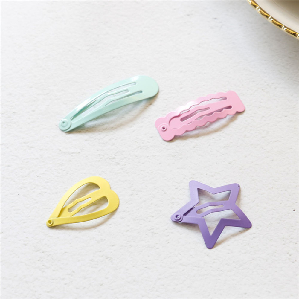6 PCS Cute Candy Color Hair Clips Girls Hairpins BB Clips Barrettes Headbands For Women Hairgrips Hair Accessories
