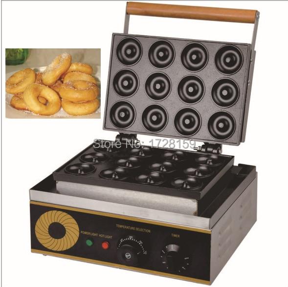 2015 New Design Electric Donut Maker Machine With Twelve Moldsmini Donut Machinesmall Round