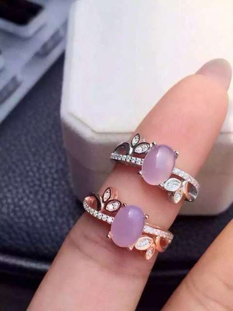 Natural rose quartz stone Ring Natural pink crystal ring 925 sterling silver trendy branches Flowers  women's girl gift Jewelry