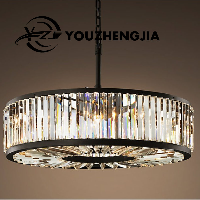 American simplicity led Crystal chandelier Retro iron lamp Nordic living room restaurant creative personality luxury Chandelier american living room retro art chandelier nordic country antler chandelier clothing store villa candle lamp