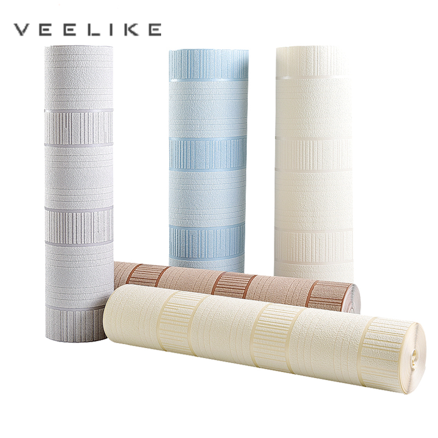 Luxury Europe 3D Embossed Stereoscopic Striped Wallpaper Flocked Non-woven Wall Paper for Home Bedroom Living Room TV Background beibehang embossed non woven stereoscopic mosaic wallpaper rolls modern woven 3d flocking wall paper living room home decoration