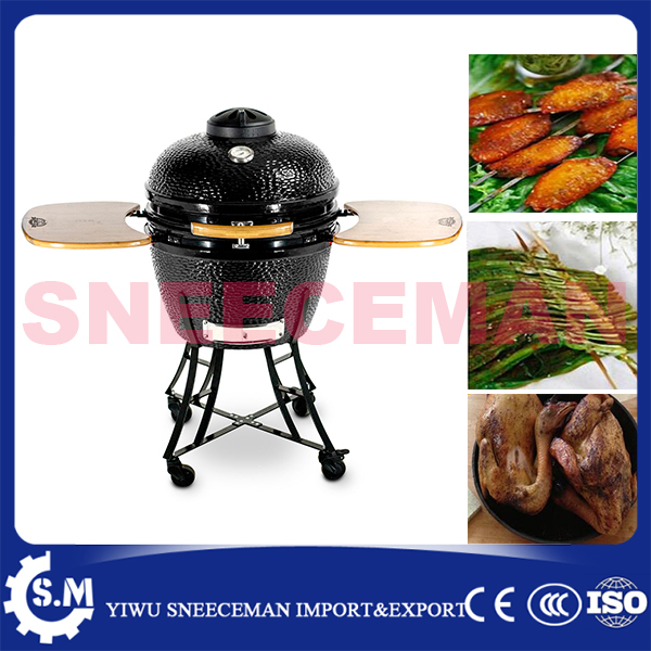 24inch Durable barbecue grill for outdoor, BBQ grill with charcoal bbq smoker Charcoal Smoked Barbecue stove