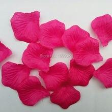 1500 шт 15 пачек романтическая искусственная ткань шелк розовая роза Лепестки фуксия Свадебные украшения petalas para casamento