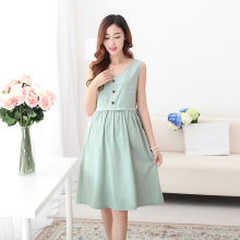 Maternity Clothes Nursing Clothes for Pregnant Women Summer Dress Casual Maternity Breastfeeding Loose Cotton Nursing Dress B71