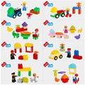 2-6 Años de Diversión Feliz Flota Duploe Figuras Conjunto Coche Bloques de Construcción de Ladrillo Juguetes Para Niños Educación