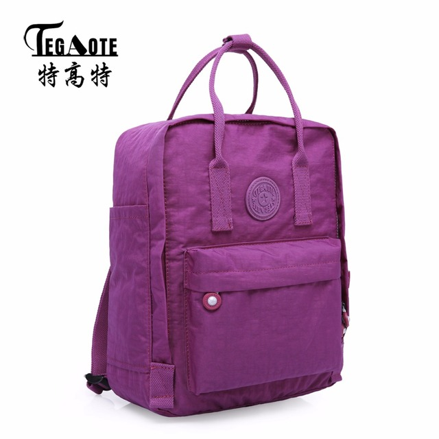 91480edb6ad TEGAOTE Fashion Trends Women Waterproof Nylon Backpacks Bolso Mochila Mujer  2017 Mens Casual Big Travel Backpack