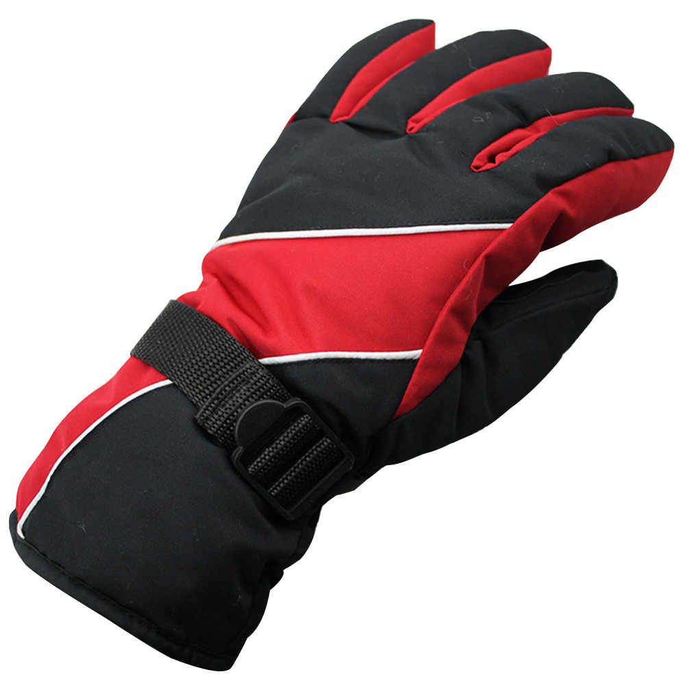 男性冬 30 防水防風雪スノーボードスキースポーツ手袋バイク乗車手袋保護手袋