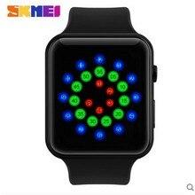 Горячая Продажа SKMEI человек водонепроницаемый LED индивидуальность творческая девушка нейтральной наручные моды мужские и женские студенты Цифровые часы