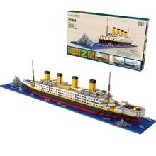 1860 pcs Nenhum Jogo Rs Titanic Navio de Cruzeiro Barco Modelo Diy Blocos Constru&ccedil Diamante