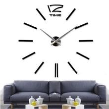 2016 New Hot Sale Stickers Wall Clock Clocks Watch Diy Acrylic Mirror Large Home Decoration Quartz Living Room Circular Needle