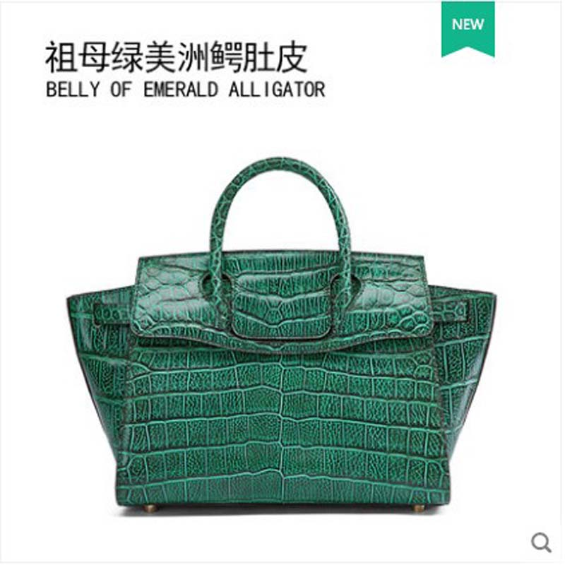 Gete crocodile nouveau cuir à la mode sac à main alligator ventre sac à main grande capacité aile sac pour les femmes