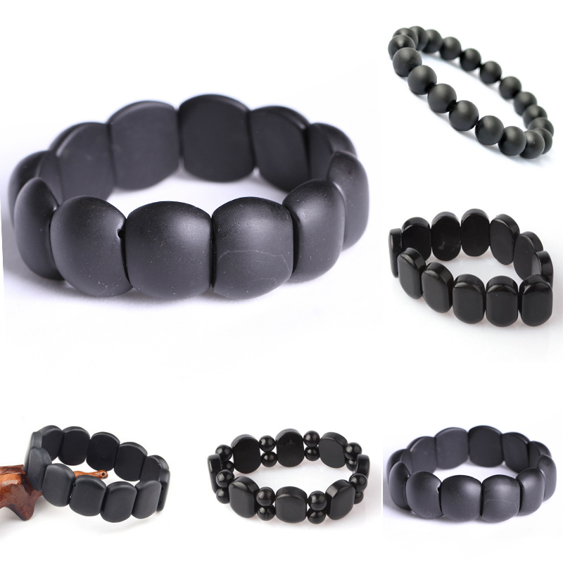 hot sale Black Jade Banichi Natural Black Stone Bianshi Bracelets Balck Jade banichi bracelet For Men and Women jade jewelry